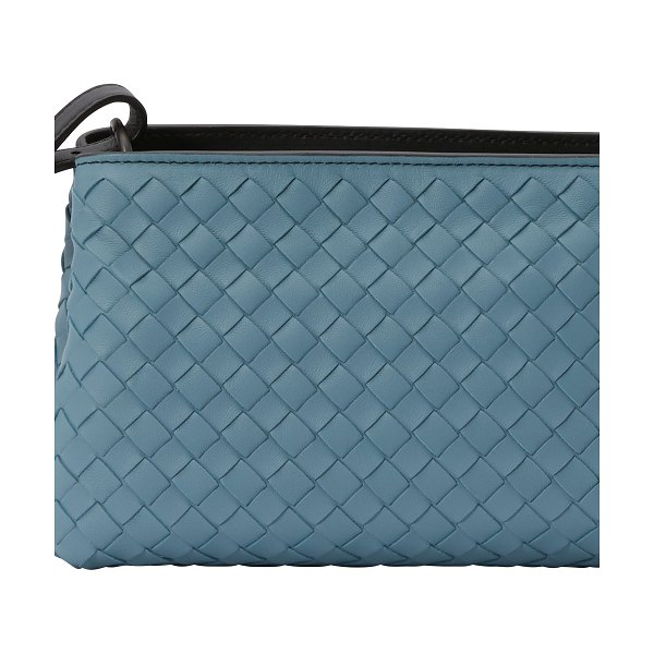 Bottega Veneta Small crossbody bag in tweedia blue