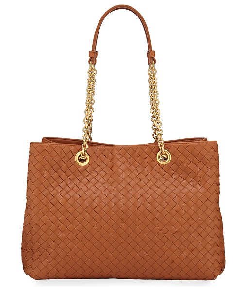 Bottega Veneta Small Intrecciato Double Tote Bag in medium brown