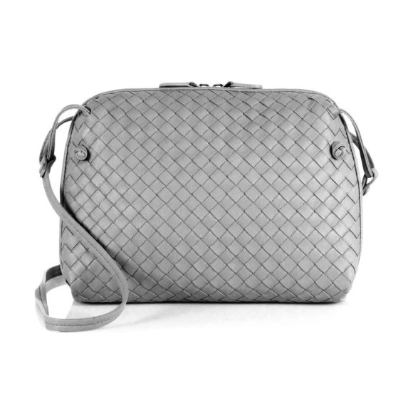 Bottega Veneta nodini leather crossbody bag in denim