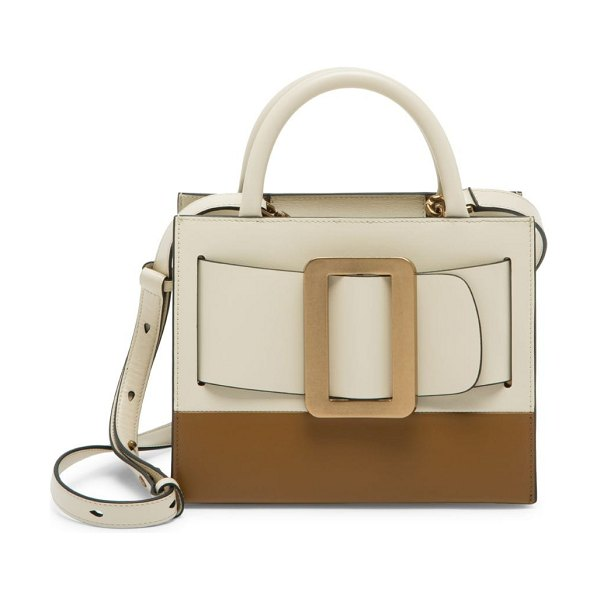 Boyy bobby two-tone leather tote in parchment