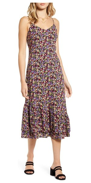 BP. floral sundress in purple hyacinth floral field