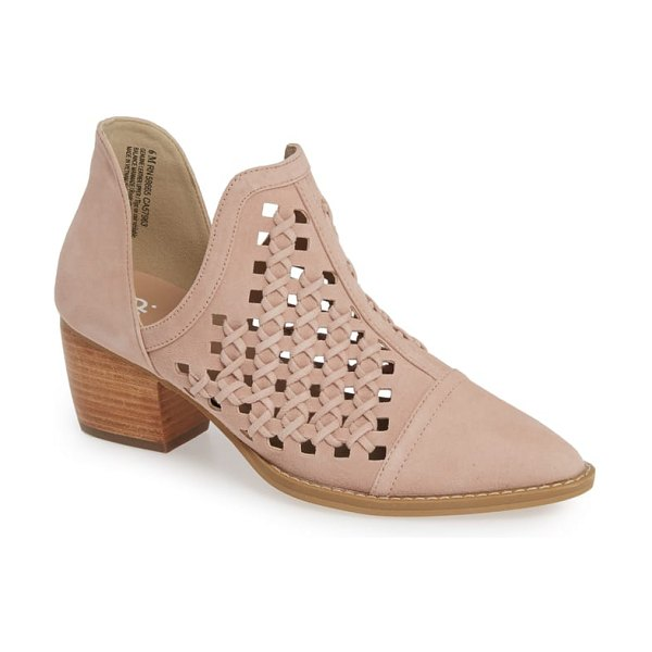 BP. tate bootie in dark blush suede - Tonal weaving adds subtle texture to a Western-inspired...