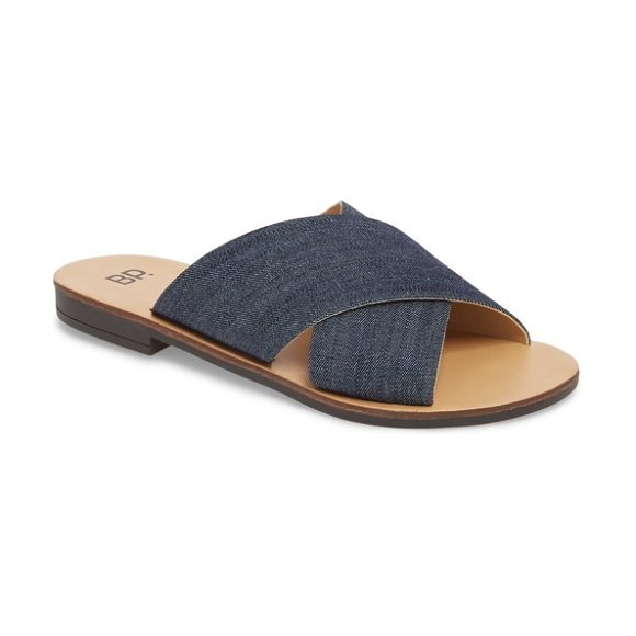 BP. twist cross strap sandal in chambray fabric - Casual, simple and easy to wear with practically...