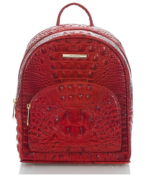 Brahmin mini dartmouth leather backpack in scarlet