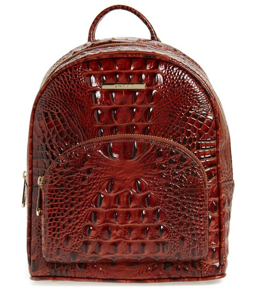 Brahmin mini dartmouth leather backpack in pecan