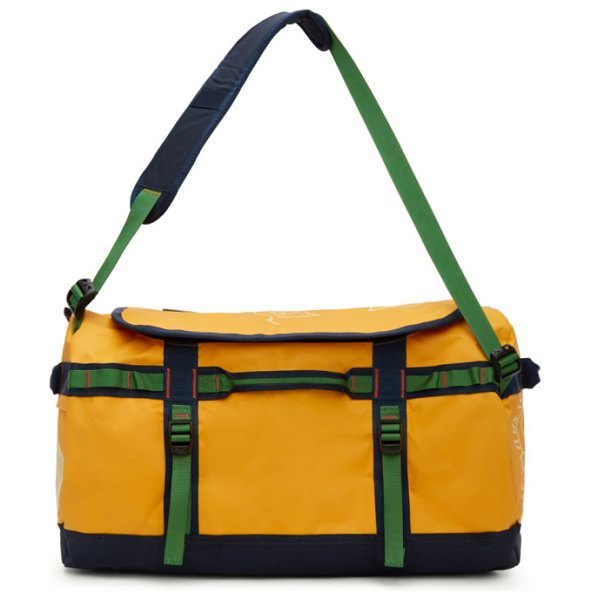 Brain Dead yellow the north face edition small basecamp duffle bag in yellow 70m