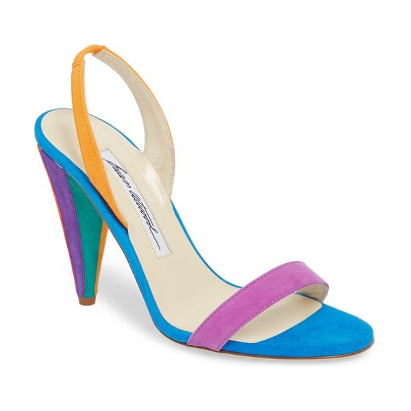 Brian Atwood susii cone heel sandal in multi color - A slingback sandal this exuberant begs to be worn in...