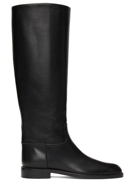 Brock Collection black flat riding boots in 001 black