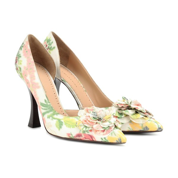 Brock Collection exclusive to mytheresa – floral pumps in white