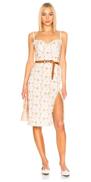 Brock Collection floral dress in open white