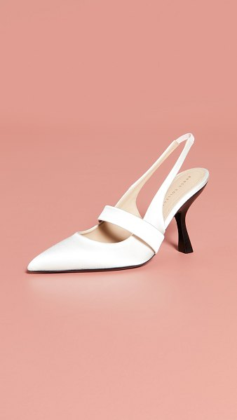Brock Collection slingback pumps in latte
