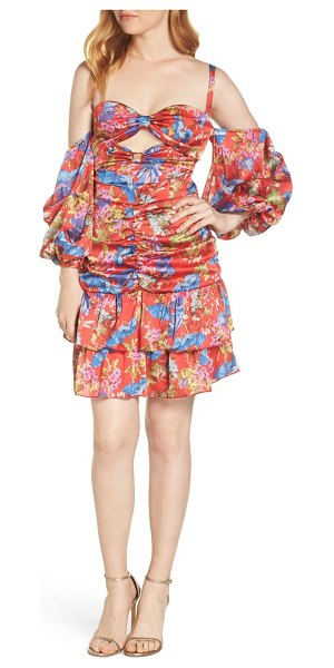 Bronx and Banco catalina floral print party dress in red - This dress is a celebration of island aesthetics in a...