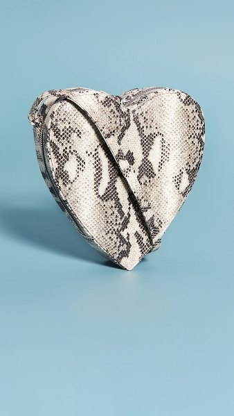 Brother Vellies heart bag in python