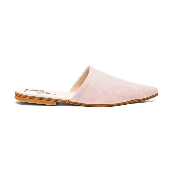 BROTHER VELLIES Suede Sister Mules in pink - Suede upper with leather sole.  Made in Morocco.  Approx...