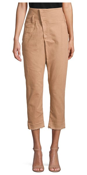 Brunello Cucinelli Asymmetrical Cropped Pants in brown