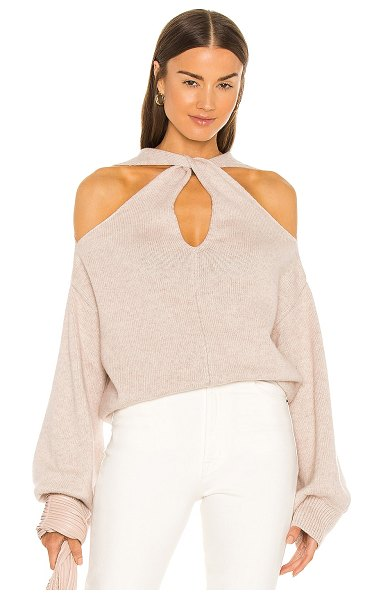 bubish alexandra cashmere knit pullover in oatmeal