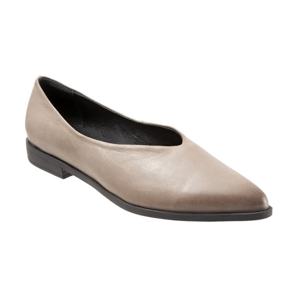 BUENO billie flat in grey leather