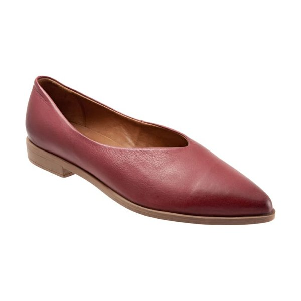 BUENO billie flat in plum leather