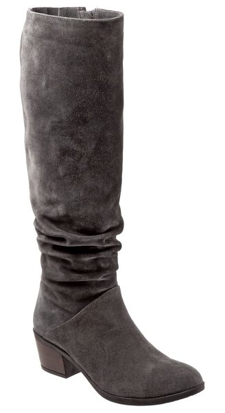 BUENO camryn tall boot in graphite suede