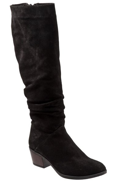 BUENO camryn tall boot in black suede