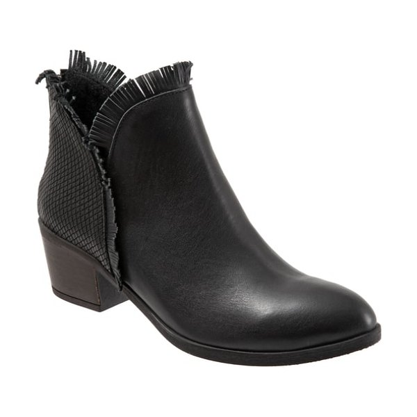 BUENO cathy bootie in black snake leather
