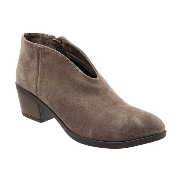 BUENO charlie bootie in taupe suede