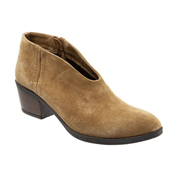 BUENO charlie bootie in brown suede