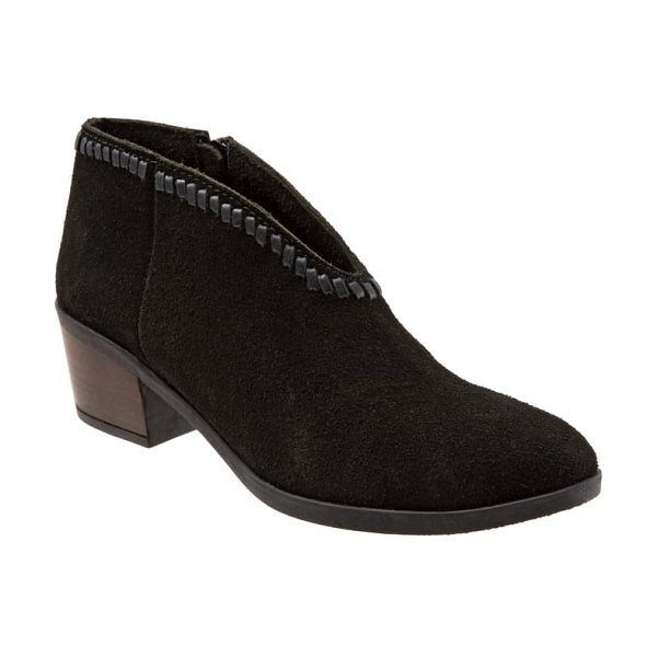 BUENO chester bootie in black suede