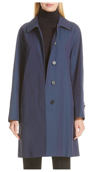 Burberry camden cotton car coat in dark sapphire - Rooted in Burberry's motoring heritage, this A-line car...