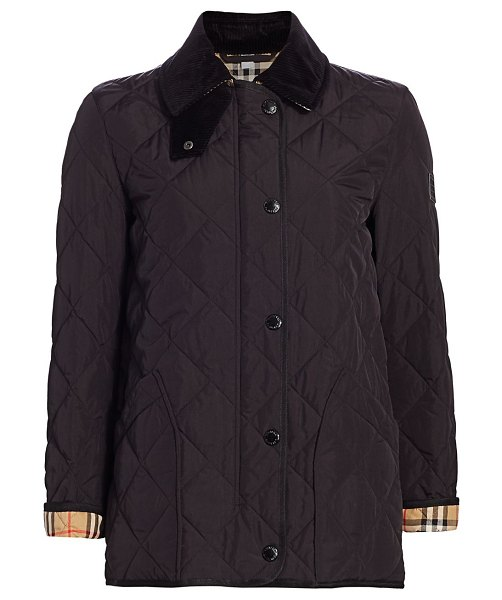 Burberry cotswold boxy quilted jacket in black