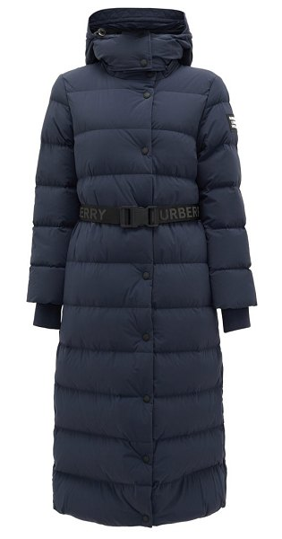 Burberry eppingham belted down-filled puffer coat in navy
