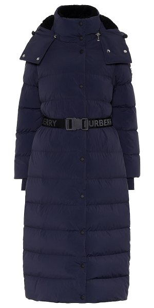 Burberry eppingham quilted down coat in blue