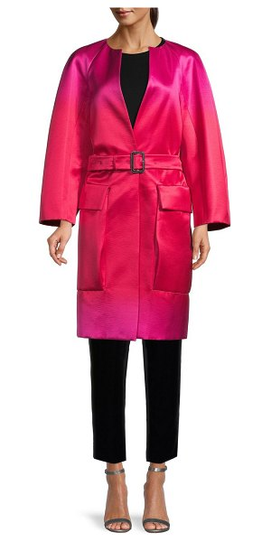 Burberry Gradient Silk Belted Jacket in bright pink