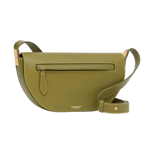 Burberry medium sonny leather shoulder bag in juniper green