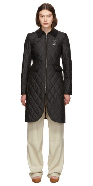 Burberry quilted ongar equestrian jacket in black