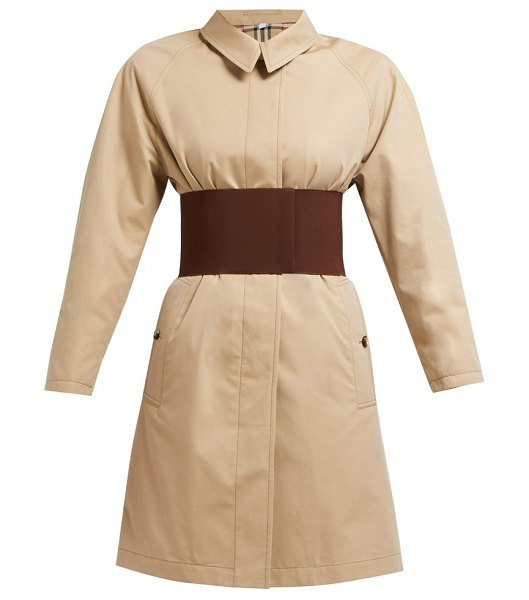 Burberry single-breasted cotton-gabardine trench coat in beige
