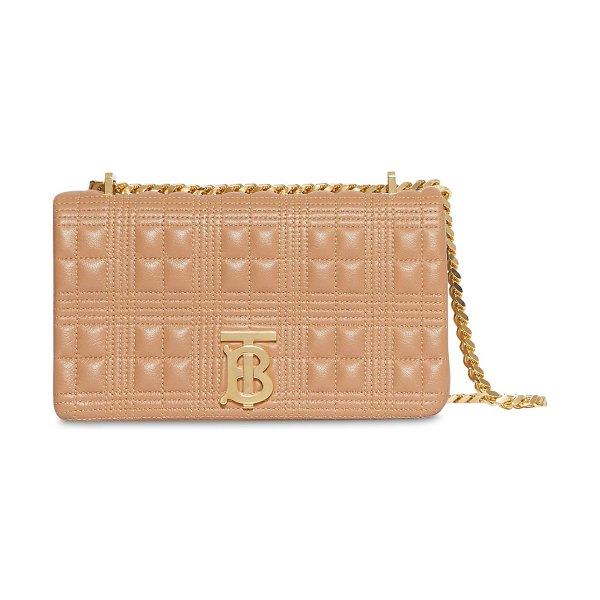 Burberry Sm lola quilted leather bag in camel