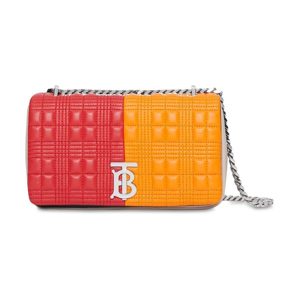 Burberry Sm lola quilted leather bag in bright orange