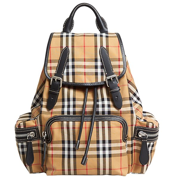 Burberry Small Rucksack Vintage Check Sailing Backpack in yellow
