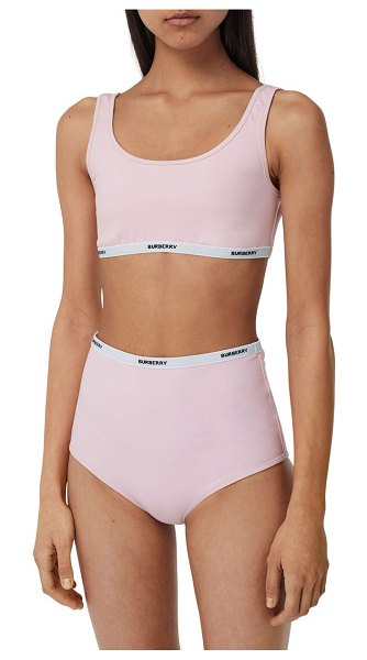 Burberry tarnie logo band two-piece swimsuit in orchid pink