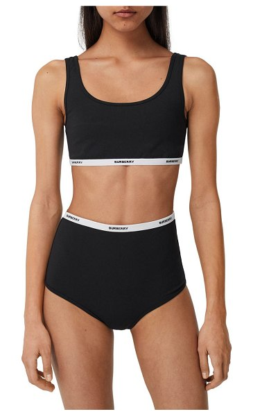 Burberry tarnie logo band two-piece swimsuit in black