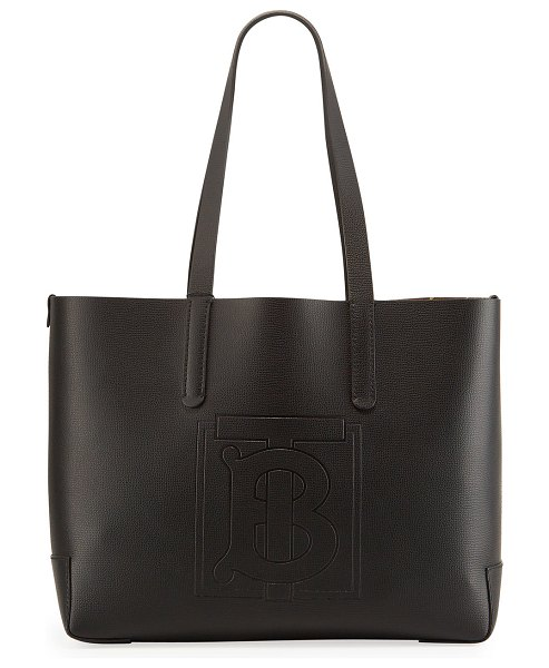 Burberry TB Embossed Medium Tote Bag in black