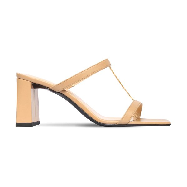 BY FAR 80mm chloe leather sandals in nude