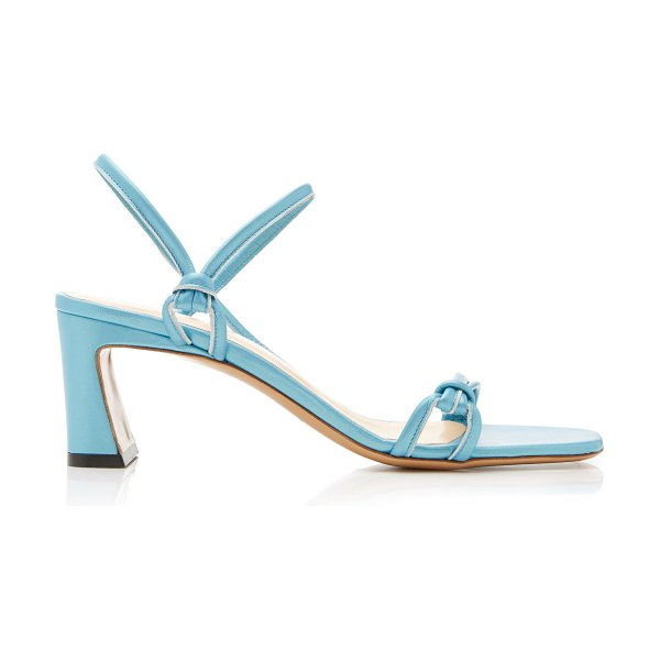BY FAR charlie leather slingback sandals in white