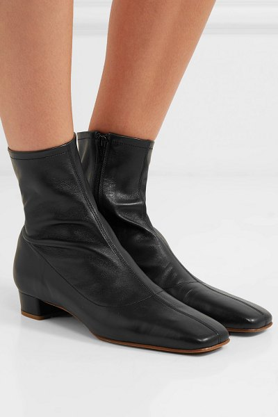 BY FAR este leather ankle boots in black