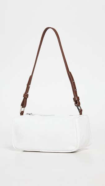 BY FAR eve white nappa leather bag in white