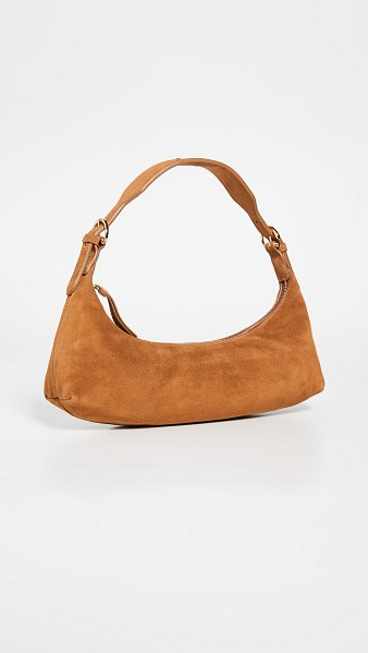 BY FAR mara brown suede leather bag in brown