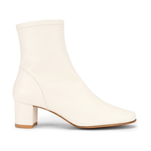 BY FAR sofia leather boot in white