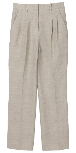 By Malene Birger louisamay double face linen pants in neutral
