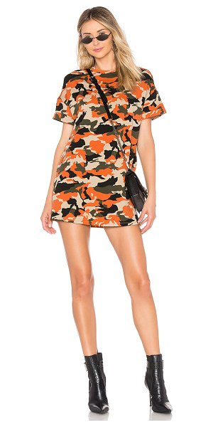 by the way. Clara Camo Dress in orange - 95% cotton 5% spandex. Hand wash cold. Unlined. Cuffed...